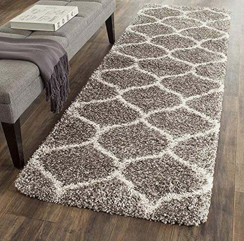 Safavieh Hudson Shag Collection SGH280B Moroccan Ogee 2-inch Thick Runner, 2' 3