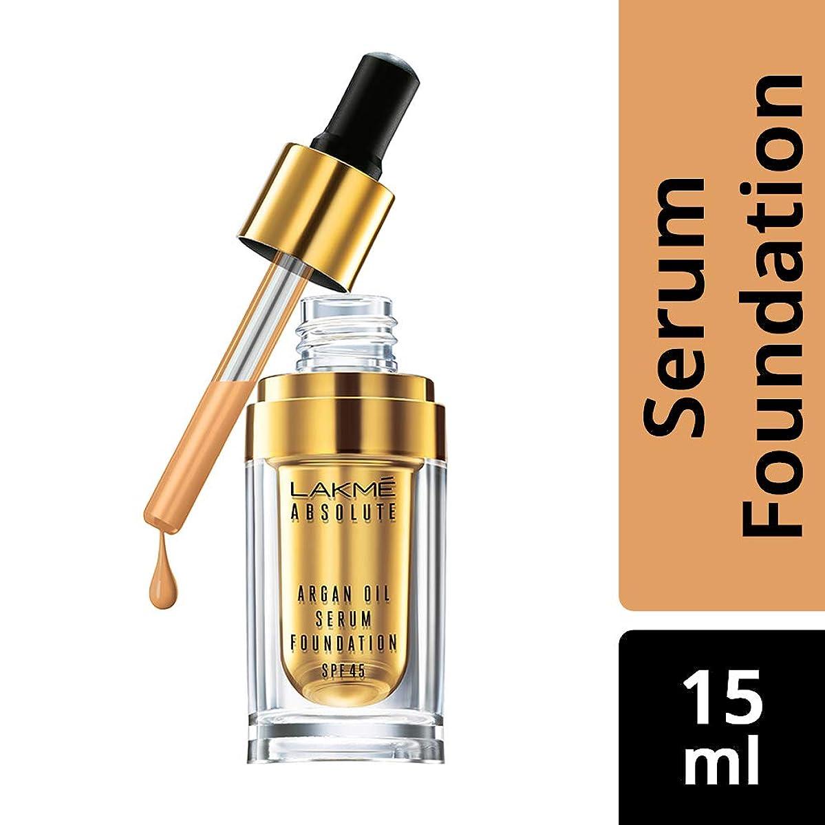 メカニックアロングマッサージLakme Absolute Argan Oil Serum Foundation with SPF 45, Ivory Cream, 15ml