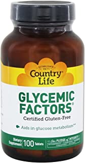 Country Life Glycemic Factors - 100 Tablets