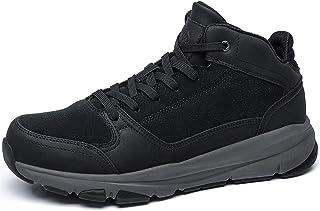 CAMEL CROWN Basket Montante Homme Respirante Laçage up Sneaker Homme Antidérapant Marche Sport Chaussure Noir Marron