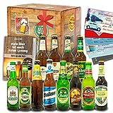 12x Bier aus aller Welt & Deutschland / 12 Flaschen Bier/Geburtstags Set