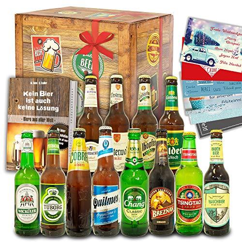 Biere der Welt + Biere Deutschland / 12 Bierflaschen/Bierset Geburtstag