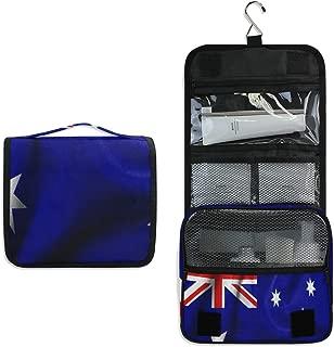 Flag Of Australia Hanging Travel Toiletry Bag for Women Men | Hygiene Bag | Bathroom and Shower Organizer for Toiletries, Cosmetics, Makeup, Brushes