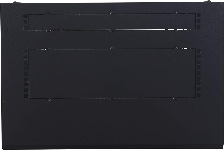 APC NetShelter 12U Wallmount Rack Enclosure Server Cabinet, AR112, Unassembled Black