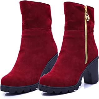 Bombay's Finest Fashion Women's High Heel Red Boots | Girls Shoes 2019