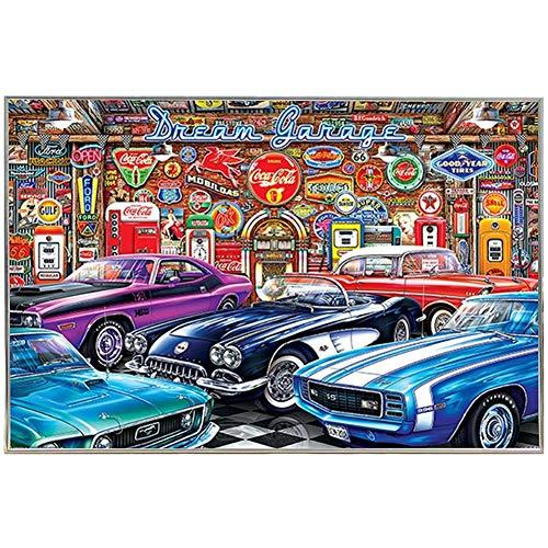chtshjdtb Traumgarage Vintage Autos Wandkunst Poster Leinwand Malerei Druck Home Decoration -60X80Cm No Frame 1 Pcs