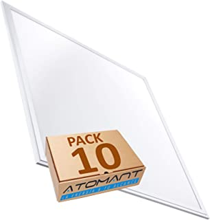 Led Atomant Pack 10x Panel LED Slim 60x60cm, 40W. Color Blanco Neutro (4500K). 3200 lumenes. A++