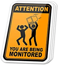 Kachi Art Cool Sticker (3 pcs/Pack,3x4 inch) Attention You are Being Monitored Funny Saying System Administrator Gift Stickers for Water Bottles,Laptop,Phone,Teachers,Hydro Flasks,Car