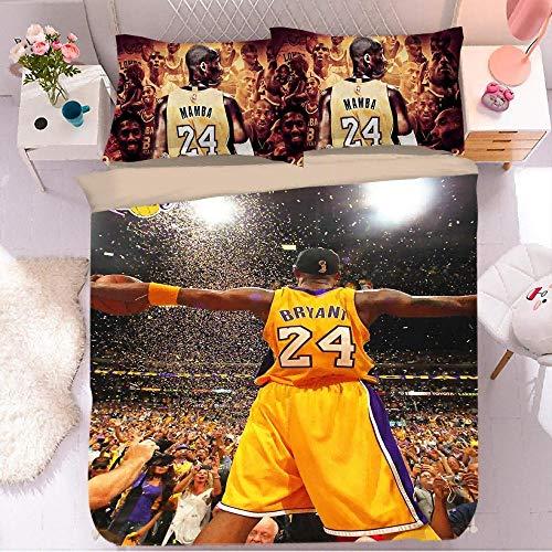 Funda de edredón de Baloncesto NBA, Funda de edredón de Dibujos Animados de Microfibra de impresión 3D, Funda de Almohada, Ropa de Cama