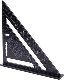 AUTOTOOLHOME 木工用 丸鋸定規 0-90度 多角度 ツール アルミ ブラック 丸ノコアクセサリ 測量用品 クリアスケール 読みやすい