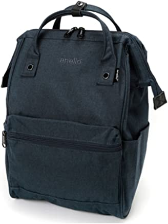 Anello AT-B2261-NV Backpack Mottled Polyester Canvas Large, Navy