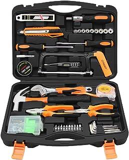Towallmark Juego de herramientas de 108 piezas, juego de herramientas para el hogar, juego de herramientas para el hogar, ...