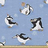 ABAKUHAUS Cartoon-Tier Gewebe als Meterware, Eislaufen