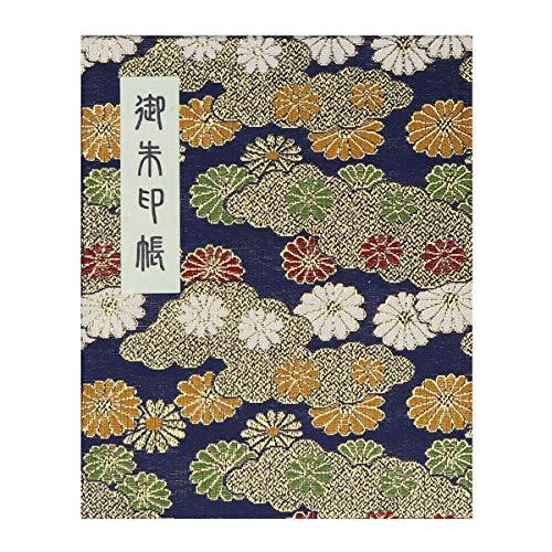 HOTOKUDO 'Goshuin-cho' - Libreta japonesa de sellos de peregrinación, con cubierta protectora, tipo libro, azul marino 60páginas, 17 x 13,5 cm