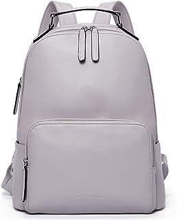 BOSTANTEN Damen Leder Rucksack 13 Zoll Laptoprucksack Vintage Reiserucksack Casual Backpack Daypacks Grau