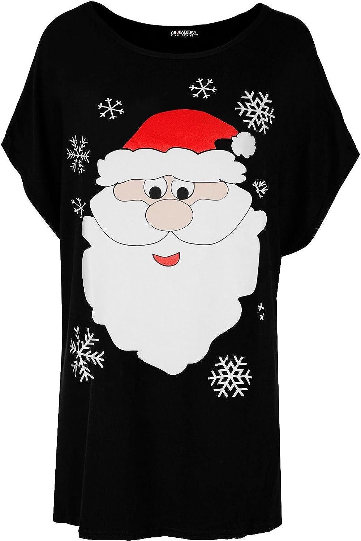 Be Jealous Womens Christmas Santa Snowman Reindeer T Shirt