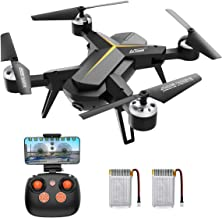 $59 » Drone with 720P HD Camera for Kids & Adults, WiFi FPV RC Quadcopter with Headless Mode, Altitude Hold, One Key Return Home, 2.4Ghz 6-Axis Gyro Beginners Drone, Long Flight Time Flying UFO