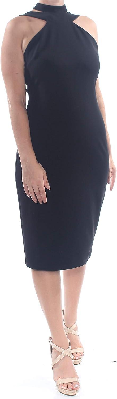 bebe Bodycon Halter Dress Black 10