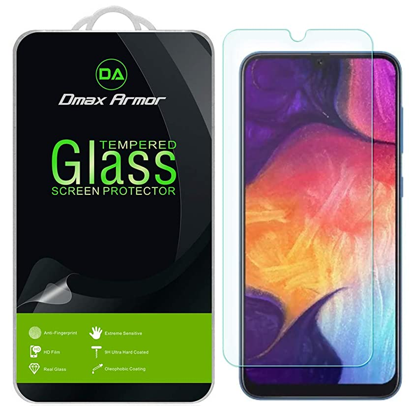 [3-Pack] Dmax Armor for Samsung Galaxy A50 Tempered Glass Screen Protector with Lifetime Replacement