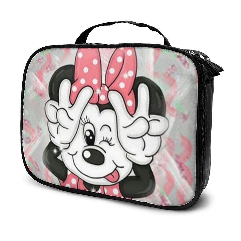 消毒剤セージ続けるDaituラブリーミニーマウス 化粧品袋の女性旅行バッグ収納大容量防水アクセサリー旅行