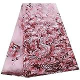 Spitze-Gewebe Rosa Mode Afrikanisches Spitze-Gewebe