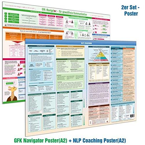[2er-Set] NLP COACHING POSTER (DINA2) & GFK-NAVIGATOR POSTER(DINA2) - Beziehungen vertiefen und schützen - Konflikte kompetent lösen: - Praktische ... Coach, NLP Practitioner und NLP Master (2020)