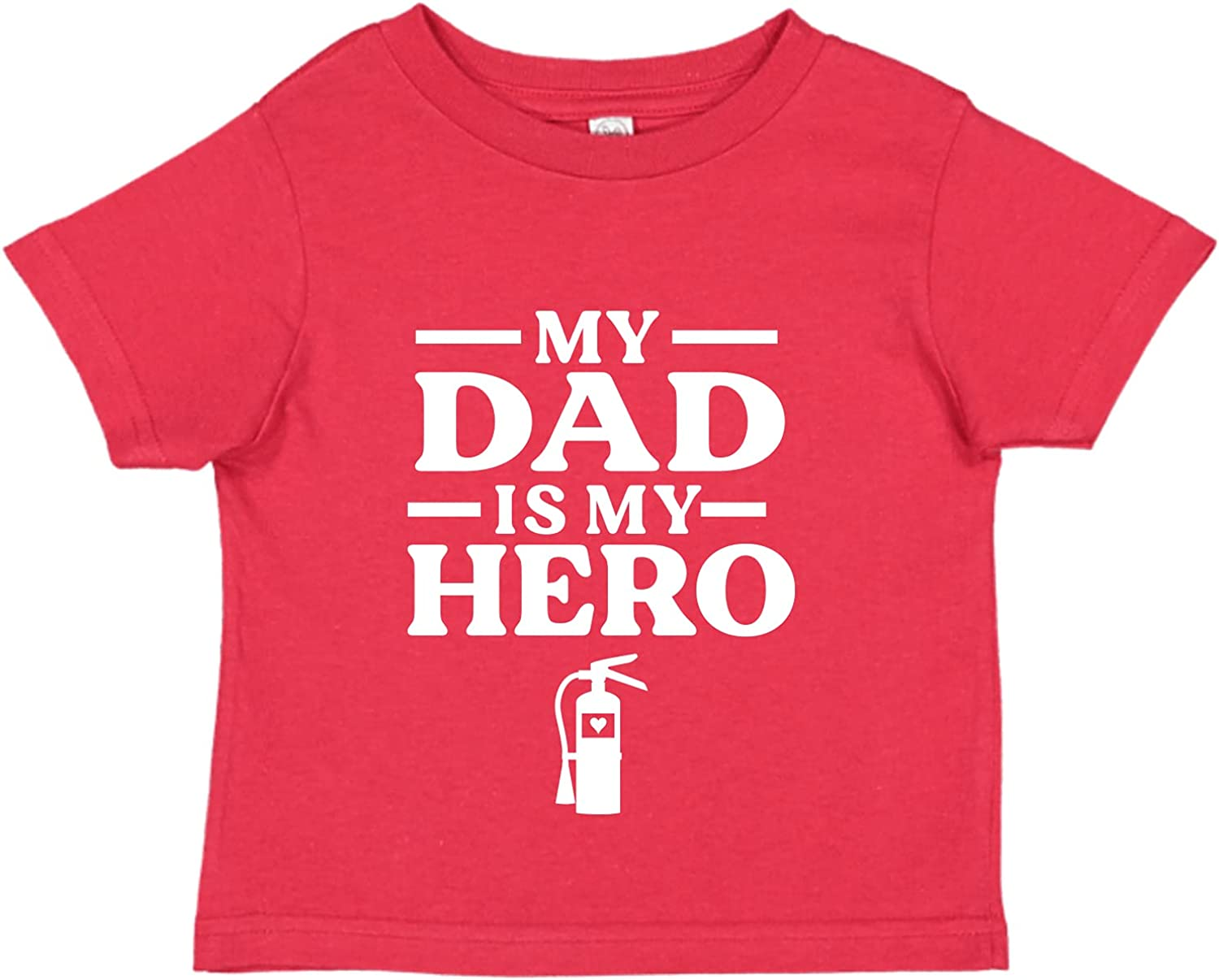Tees & Tails My Dad is My Firefighter Hero Baby Tee Shirt (Assorted Colors)