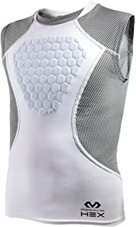 McDavid HEX Chest Protector, Heart-Guard / Sternum Protection – Padded Shirt for Baseball, Football, Lacrosse and Goalies - Youth & Adult Sizes