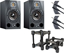 Adam A7X Studio Monitor Pair + IsoAcoustics Decoupler Stands + Mogami Cables