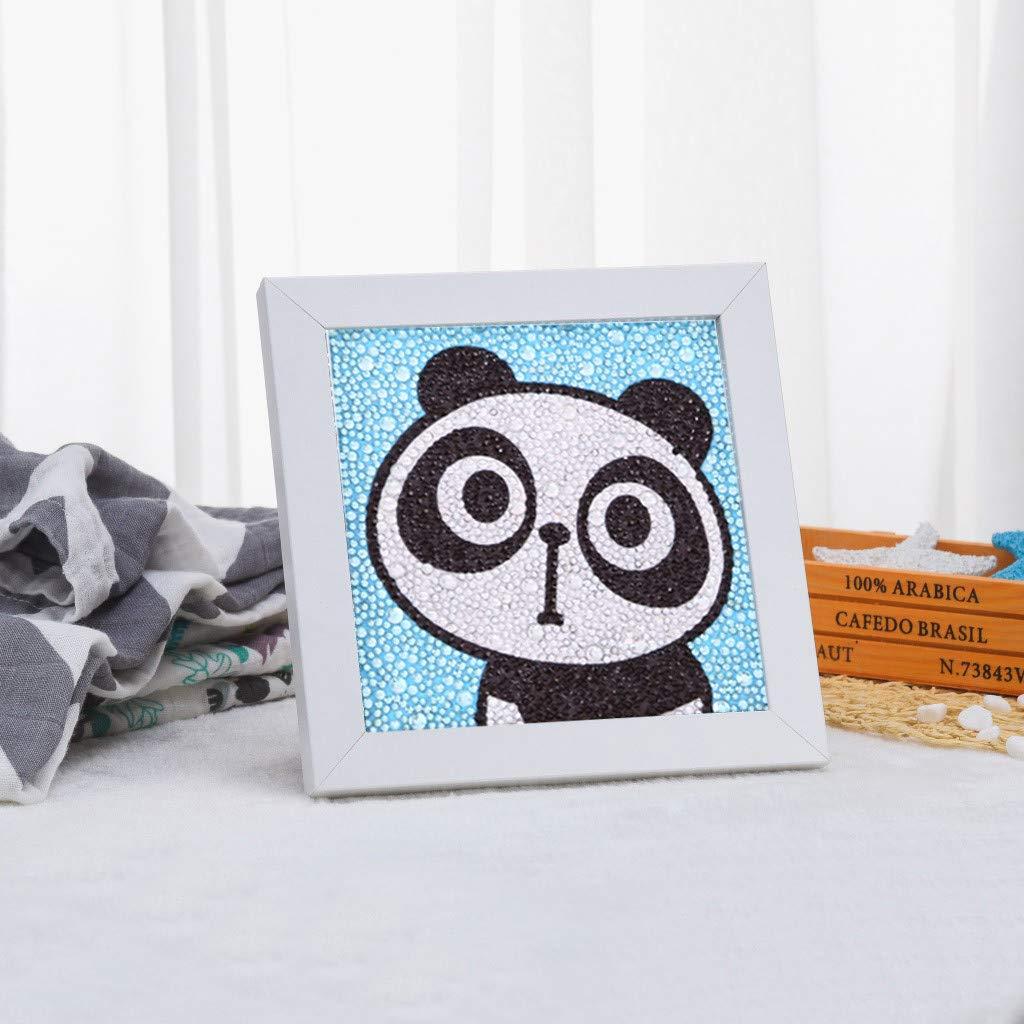 WOBANG Diamond Painting para niños, Cuadro de Diamantes para Pintar imágenes de la Actividad de los Padres, imágenes de Perlas, 5D imágenes, Dibujos Animados, Animales para niños: Amazon.es: Juguetes y juegos