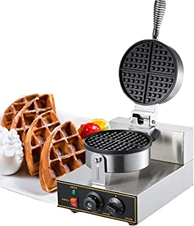 Commercial Belgian Double Waffle Maker Electric Egg Cake Oven Puff 110V Bread Maker Stainless Steel Waffle Bake Machine
