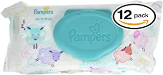 Pampers Sensitive Wipes (56 Count (Pack of 12), Sensitive)