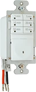 Legrand - Pass & Seymour 7- Button Digital Timer Switch 120VAC 1/6 HP Easy Installation, White