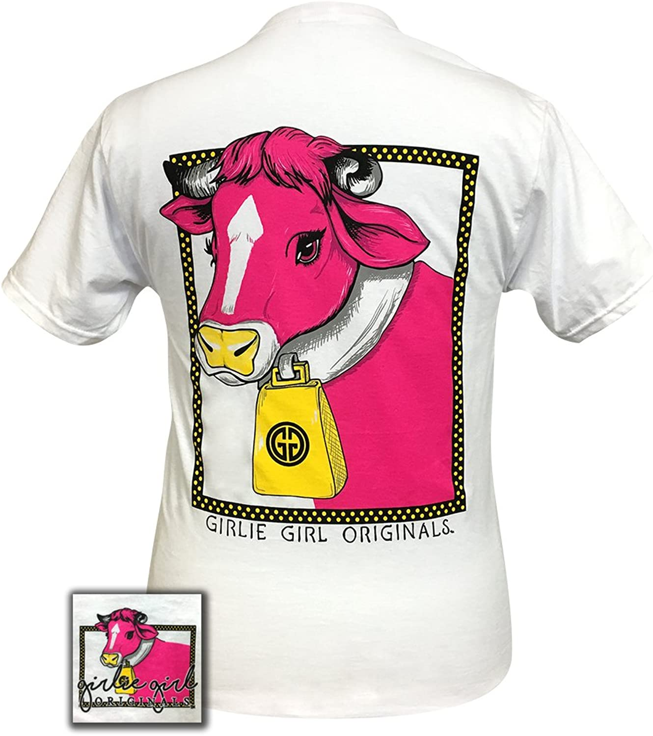 Girlie Girls Glam Cow Preppy Short Sleeve TShirt