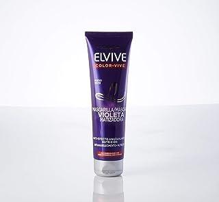 L'Oréal Paris Elvive Color Vive Mascarilla Violeta Matizadora para el Pelo con Mechas Rubio o Gris - 150 ml