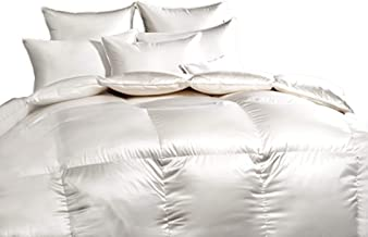Cloud Nine Comforts Down Comforter, Monaco White Goose Down-Twin Comforter-for a Good Night Sleep-Premium Luxury Bedding-Polish White