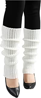 uxcell Women Solid Warm Thick Knee High Knitted Leg Warmers