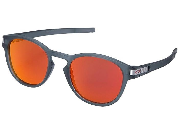 Oakley Latch Grid (Matte Crystal Black w/ Prizm Ruby) Sport Sunglasses