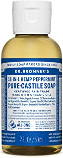 Dr. Bronner's Organic Peppermint Pure Castilla jabón líquido, 59 ml