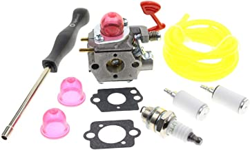 Carbhub WT-875 Carburetor for Craftsman Poulan Pro Blower BVM200C BVM200VS P200C GBV325 P325 with Fuel Line Filter Gasket Spark Plug Replace 545081855 WT-875 WT-875A