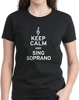 Keep Calm Sing Soprano Womens Cotton T-Shirt