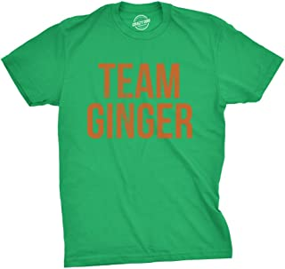 Mens Team Ginger Tshirt Funny Red Head St Patricks Day Irish Tee for Guys