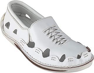 tZaro Genuine Leather White Sandal - Transformer, DMRONWHT28
