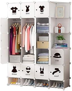 Garde-Robe Simple Combinaison Espace D'économie De Style Nordique Garde-robe De Chaussures Minimalistes Vêtements Suspendu...