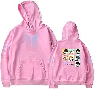 Kpop BTS Album Love Yourself Pullover Hoodie SUGA Jimin Cartoon Sweater