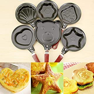 SUPRIQLO Mini Egg Frying Pan Handheld Kitchen Non-Stick Omelette Pancake Molds Tool Grill Pans
