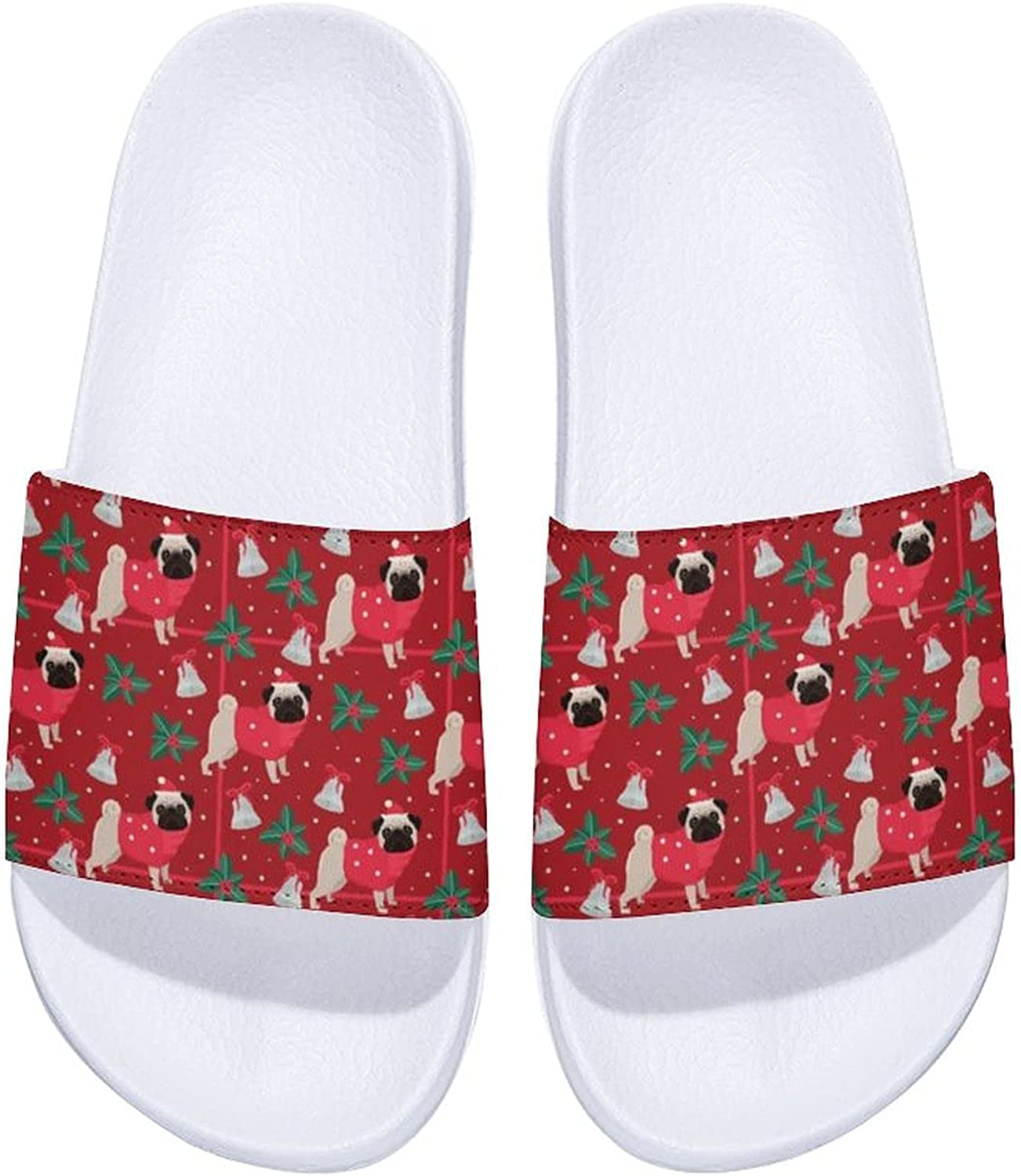 Merry Christmas And Large special price !! Happy Pugs Superior Men's Comfort Women's Slide S and