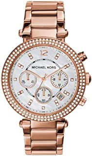 Women's 39mm Rose Goldtone Parker Chronograph Watch