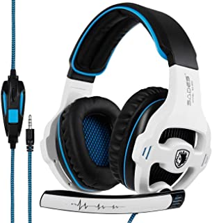 MESTEK SADES SA810 Stereo Gaming Headset for Xbox One; PC;PS4 Headset Nintendo Over-Ear Headphones with Noise Canceling Mi...