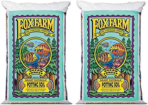 Fox Farm Ocean Forest 6.3-6.8 PH Plant Garden Potting Soil Mix, 40 Pounds-1.5 Cubic Feet (2 Pack)
